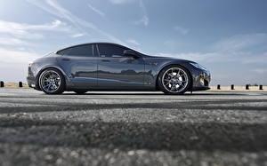 Фотография Tesla Motors Сбоку model s Машины