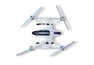 Картинки Беспилотный летательный аппарат Белый фон dron