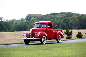 Картинка Ford Ретро Красная Металлик Пикап кузов 1941 Deluxe Pickup авто