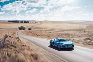 Фотографии Дороги Ауди Скорость R8 V10 Машины
