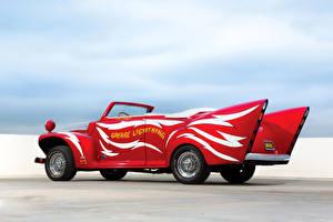 Фотографии Ford Тюнинг Ретро Красный 1946 Convertible by George Barris Автомобили