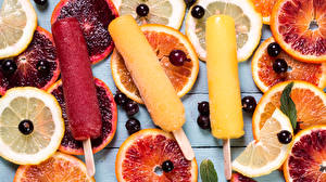 Обои Сладости Мороженое Цитрусовые Смородина Трое 3 Еда