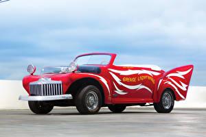 Картинки Ford Тюнинг Старинные Красный 1946 Convertible by George Barris Автомобили