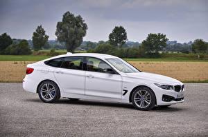 Фотография BMW Белый Сбоку 2016 340i Gran Turismo Sport Line Worldwide Автомобили