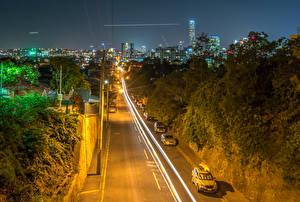 Фото Австралия Дороги Брисбен Ночные Города