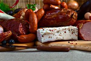 Обои Мясные продукты Колбаса Ветчина Сало Еда