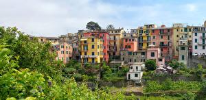 Картинки Италия Здания Чинкве-Терре парк Лигурия Corniglia