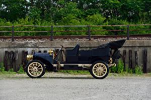 Обои Старинные Сбоку Черный 1906 Packard Model S Touring Машины