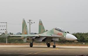 Картинка Самолеты Истребители Су-30