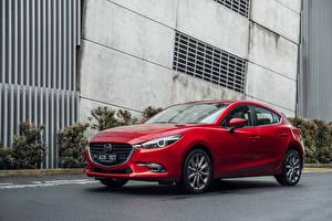 Фотографии Mazda Красная Металлик 2016 3 SP25 Astina Hatchback Автомобили