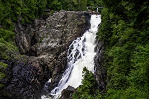 Обои Канада Водопады Утес Canyon Sainte-Anne