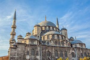 Обои Турция Храмы Стамбул Yeni Cami Города фото