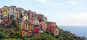 Картинки Италия Здания Corniglia