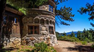 Обои США Дома Дизайн Lake Tahoe Города фото