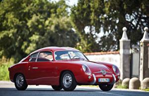Фотография Fiat Ретро Abarth Бордовая Металлик 1956-59 Abarth 750GT автомобиль