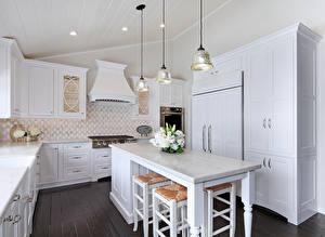 Обои Интерьер Букеты Дизайн Кухня Стол Лампа фото