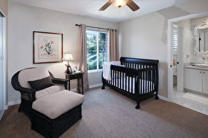 Обои Интерьер Дизайн Кровать Кресло Лампа фото