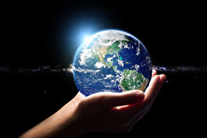 Обои Планета Руки Земля Космос