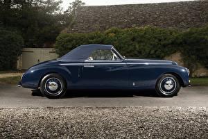 Обои Винтаж Синий Металлик Сбоку 1947 Bristol 400 Cabriolet Pininfarina Машины