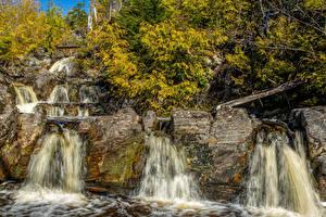 Обои США Водопады Калифорния San Juan Ridge Creek Природа фото