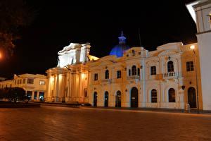 Картинка Дома Колумбия Улиц Ночь Popayan