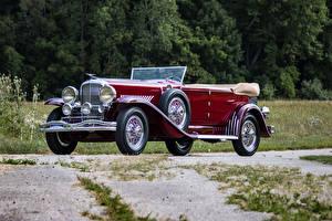 Картинки Винтаж Темно красный Металлик Седан 1931 Duesenberg J 420-2363 Convertible Sedan SWB by Murphy машина