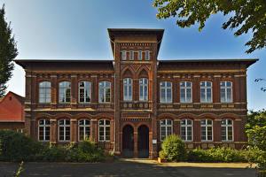 Обои Германия Дома Дизайн Кусты Gelsenkirchen Города фото