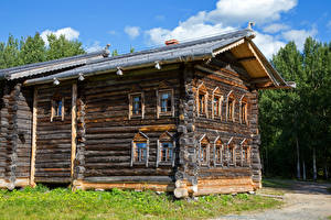 Обои Россия Дома Дизайн Деревянный Arkhangelsk Города фото