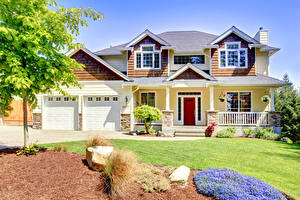 Обои Дома Особняк Дизайн Трава Города фото