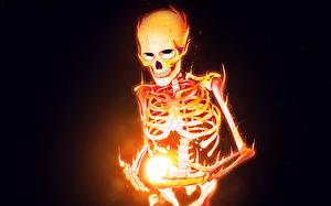 Фотография Векторная графика Волшебство Пламя Скелет Фэнтези