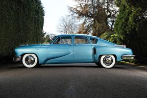 Обои Ретро Голубой Сбоку Седан 1948 Tucker Sedan Автомобили
