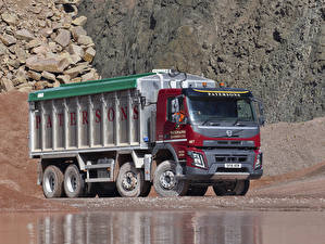 Картинка Volvo Грузовики 2013-16 FMX 370 8×4 rigid Day cab with Weightlifter tipper body Автомобили