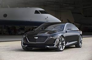Обои Cadillac Серый Металлик 2016 Escala Concept Автомобили фото