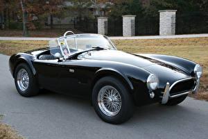 Обои SSC Винтаж Черных Кабриолет Металлик 1965 Cobra 289 Авто