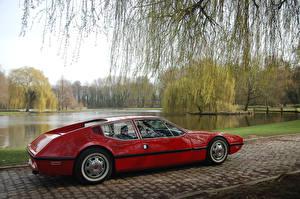 Обои Кадиллак Ретро Бордовая Металлик 1970 NART Zagato автомобиль