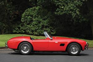 Фотографии Shelby Super Cars Старинные Красный Сбоку 1963 Cobra 289 (CSX 2082) Авто
