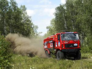Картинки Грузовики Леса Красных 2014-16 МАЗ 5309RR Автомобили