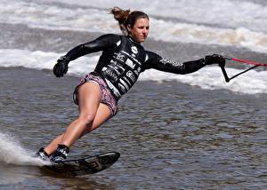 Обои Серфинг Ноги Девушки