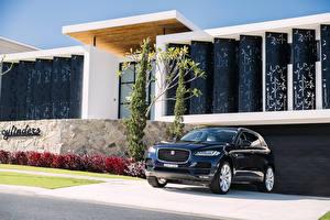 Картинка Jaguar Синий Металлик 2016 F-Pace 30d AWD Portfolio Машины