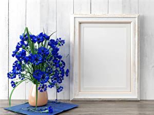 Обои Васильки Ваза Синий Шаблон поздравительной открытки
