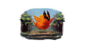 Обои DOTA 2 Phoenix Птицы Феникс Фантастика