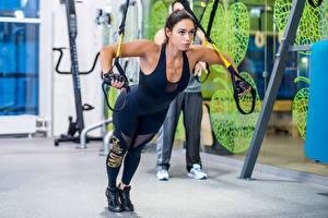Фото Фитнес Тренировка Девушки Спорт