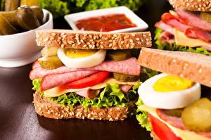 Картинка Быстрое питание Бутерброды Сэндвич Яйца