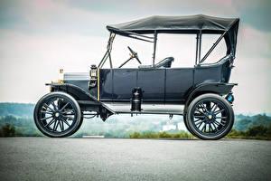 Картинки Ford Старинные Сбоку 1913 Model T Touring автомобиль