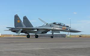 Картинки Самолеты Истребители Су-30
