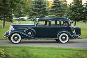 Обои Бьюик Ретро Металлик Сбоку Седан 1935 Series 60 Sedan Машины