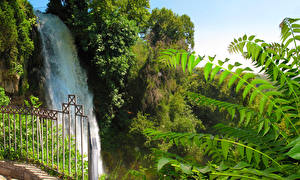 Обои Греция Водопады Edessa Waterfalls Природа фото