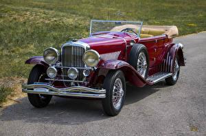 Обои для рабочего стола Ретро Бордовые Металлик Седан 1931 Duesenberg J 420-2363 Convertible Sedan SWB by Murphy Автомобили