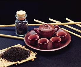 Фото Чай Чайник Чашка Продукты питания