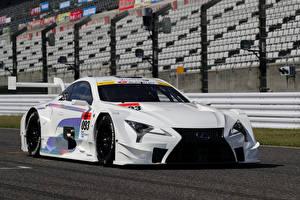 Фотографии Lexus Стайлинг Белые 2017 LC 500 Super GT Автомобили